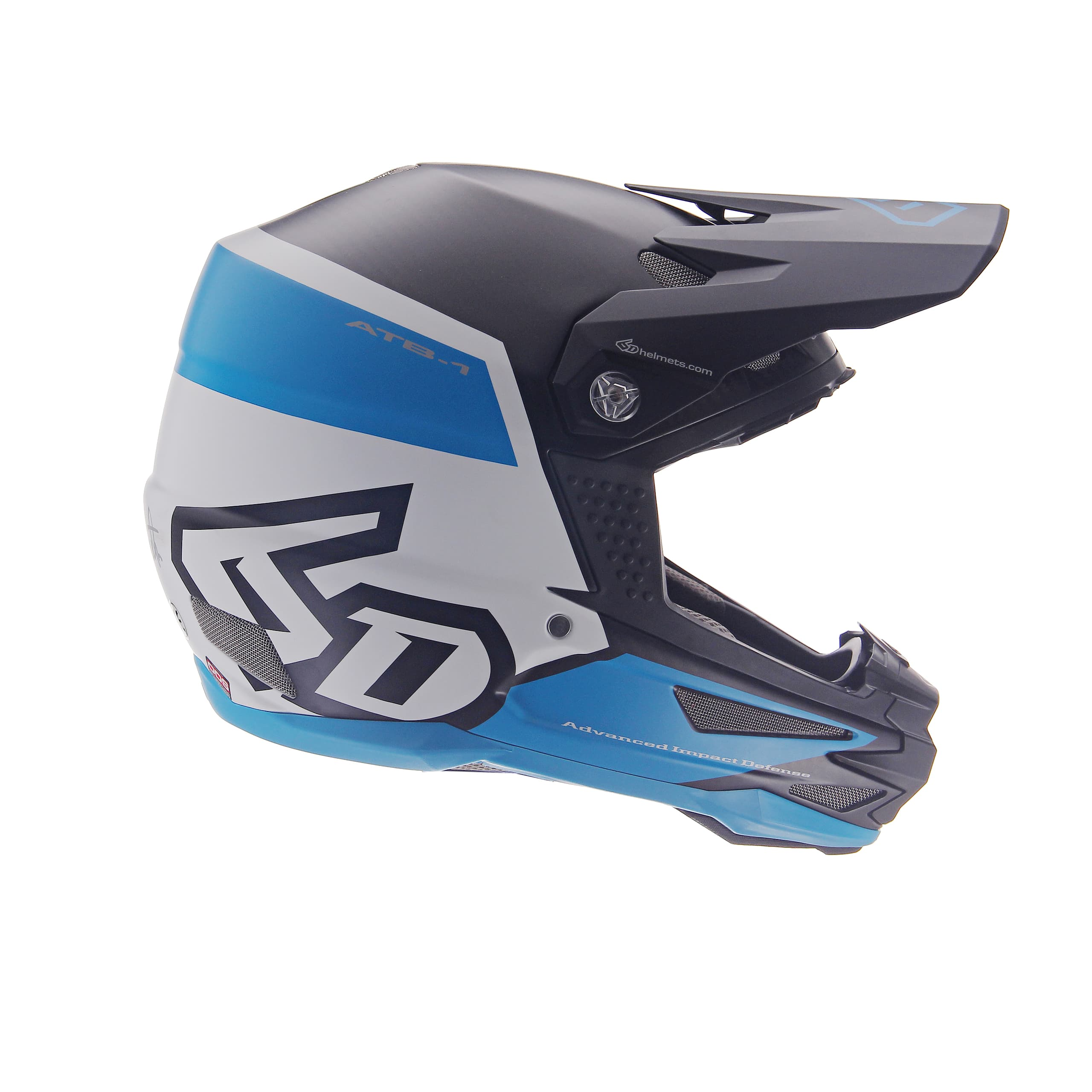 6D helmets FLIGHT white-blue